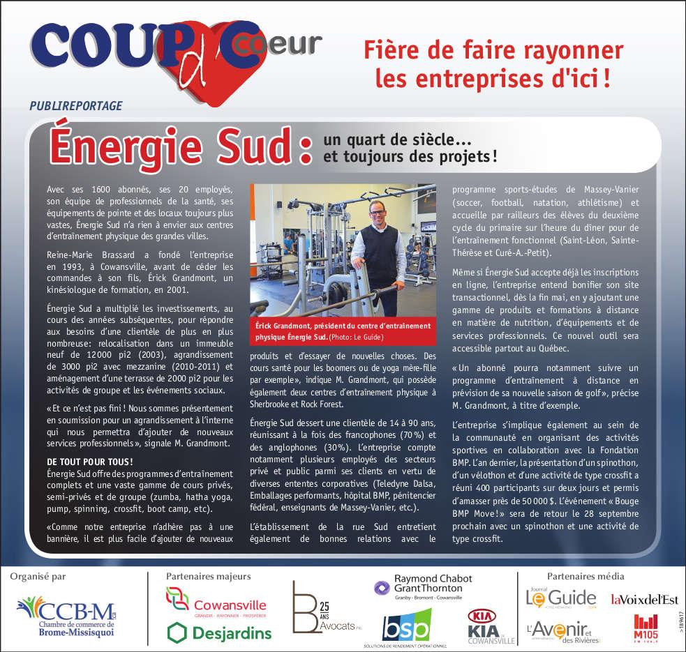 Coup dcoeur 2018- Energie Sud