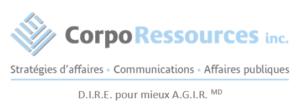 logo corporessources avec DIRE pour mieux AGIR
